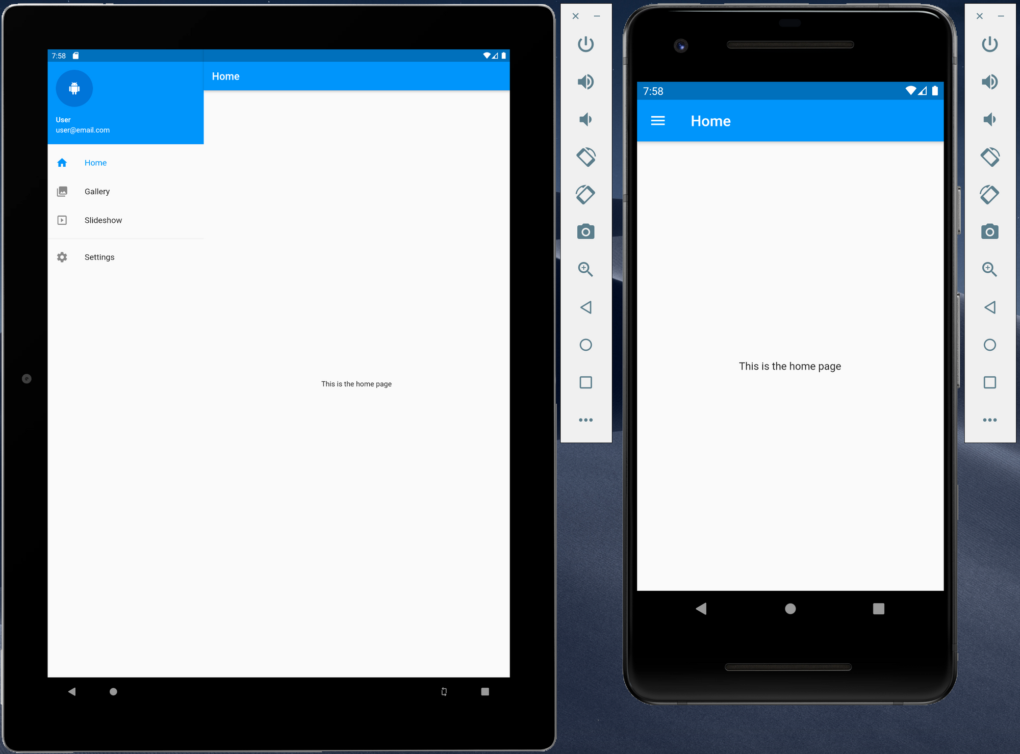 Creating a responsive Flutter application using Material Design using a navigation drawer